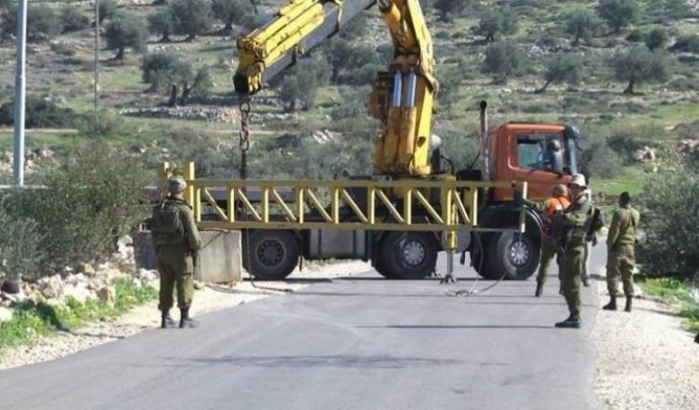 الاحتلال يواصل إغلاق مدخل عزون شرق قلقيلية