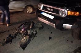 وفاة طفلة في حادث سير بالخليل