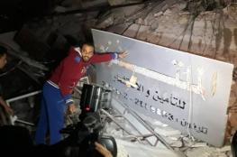 """""""الأشغال"""" تعلن إحصائية العدوان الأخير على غزة"""