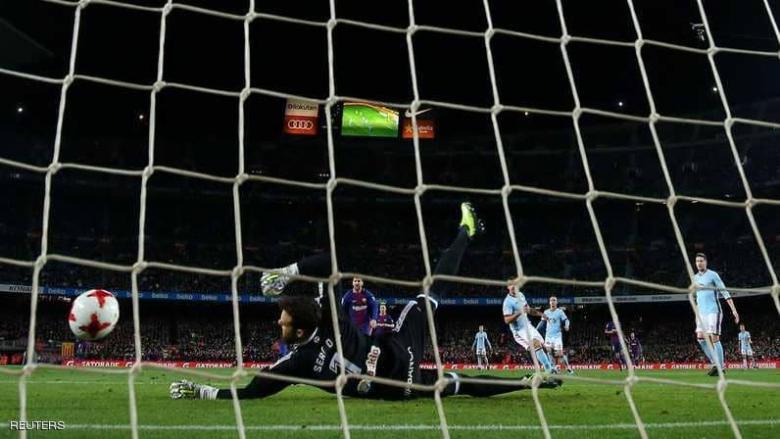 ثنائية ميسي تقود برشلونة لدور الثمانية في كأس إسبانيا