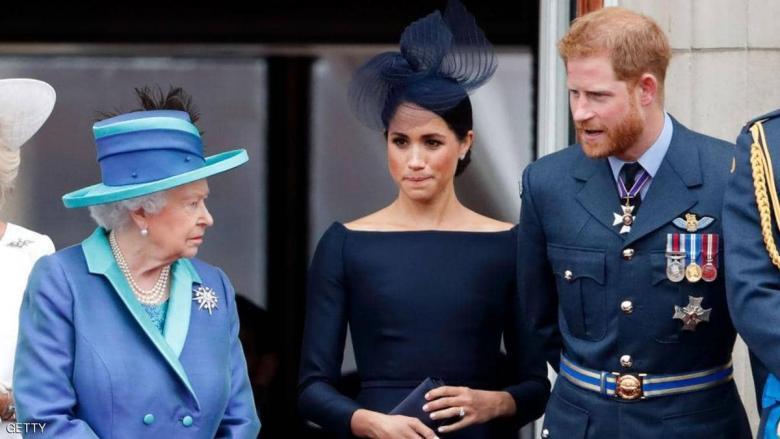 """الملكة إليزابيث تحسم قرارها بشأن """"خروج هاري وميغان"""""""