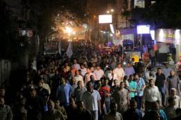 """مسيرة لحماس شمال القطاع تنديداً باتهامها بـ """"الإرهاب"""""""