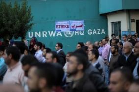 """إضراب شامل لمؤسسات """"الأونروا"""" في غزة"""