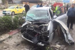إصابة ثمانية مواطنين في حادث تصادم بين ثلاث مركبات شرق طولكرم