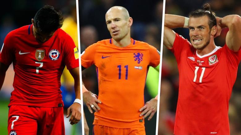 أبرز 10 نجوم سيغيبون عن كأس العالم