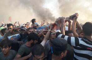 زفة شهيد أعدمه الاحتلال بمخيم العودة شرق البريج