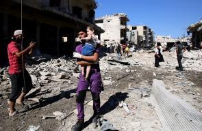 روسيا تقصف سوقًا شعبيًا في إدلب