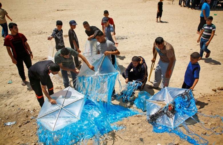 طائرات غزة الورقية تربك حسابات الاحتلال