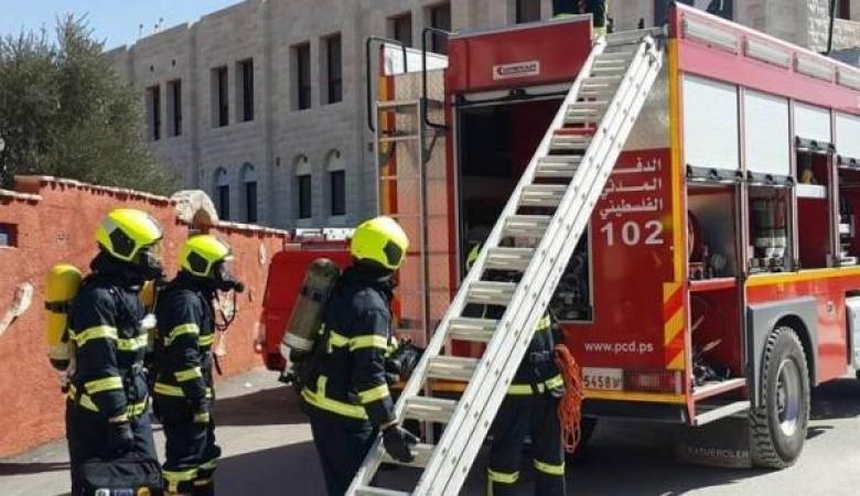 الدفاع المدني برام الله يتعامل مع 302 حادث خلال 24 ساعة