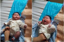 سيدة تنجب طفلاً عملاقاً يزن7 كيلوغرامات