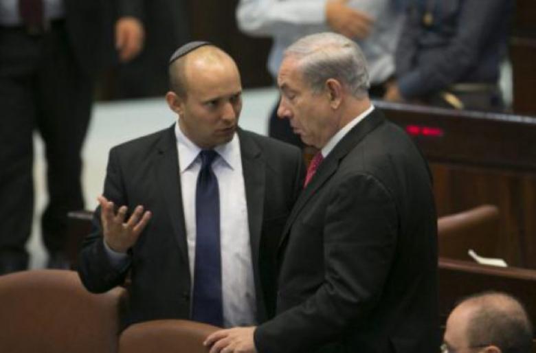 """نتنياهو وبينيت يقطعان اجتماعهما ويتجهان لـ""""الكرياه"""" بسبب التطورات بغزة"""