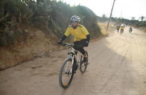 سباق العودة للدراجات الهوائية من نادي مخيم البريج حتى مخيم العودة