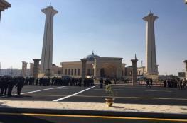 وصول جثمان مبارك إلى مسجد المشير طنطاوي