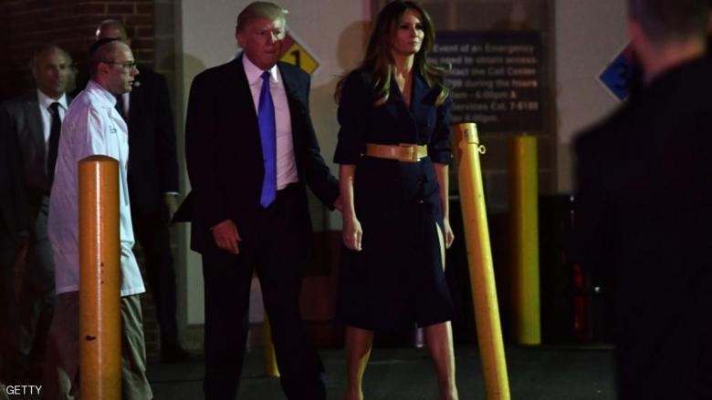 ترمب وزوجته في زيارة مفاجئة
