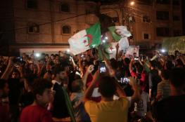 الاحتفالات تعم فلسطين من بحرها إلى نهرها بفوز محاربي الصحراء