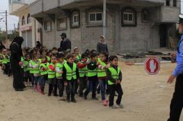 مرور خانيونس تُنظم يوماً توعوياً للأطفال