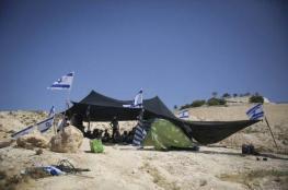 مستوطنون ينصبون خيمة على دوار كفل حارس بسلفيت