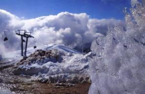 الثلوج من جبل الشيخ في الشمال الفلسطيني المحتل