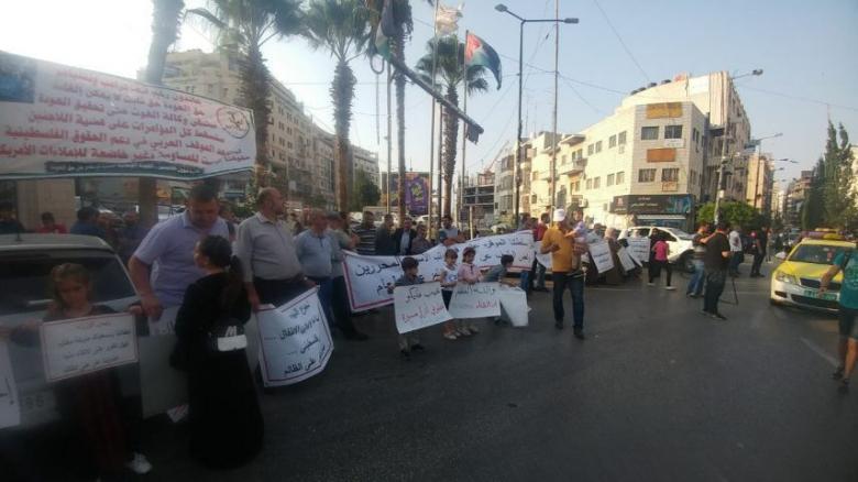 أمن السلطة يفض خيمة اعتصام الأسرى المحررين المقطوعة رواتبهم