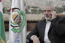 هنية يهاتف عددا من قادة الفصائل الفلسطينية