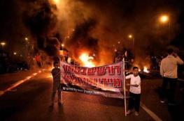 إسرائيليون يغلقون طريقًا بغلاف غزة احتجاجاً على الوضع الأمني