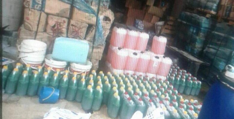 إتلاف 300 كغم مواد تنظيف منتهية الصلاحية
