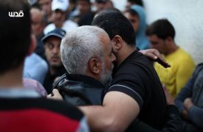 من وداع الشهيد بهاء أبو العطا قبيل تشييعه في غزة