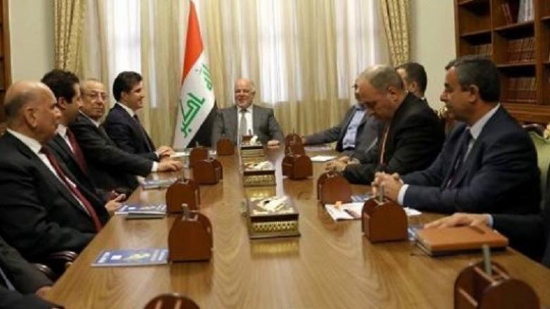 العبادي يبحث مع وفد إقليم كردستان ملف الاستفتاء