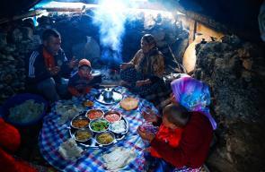 طعام الإفطار في جبال طوروس جنوب تركيا