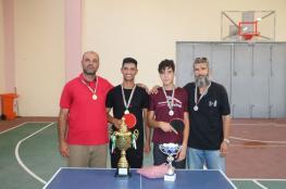 تعليم الوسطى تختتم بطولة تنس الطاولة للمرحلتين العليا والثانوية