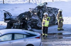 60 مصابًا بحادث تصادم كبير بمدينة
