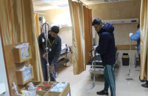 المبادرات الشبابية تواصل حملات تظيف مستشفيات غزة