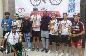 مركز بلاطة ينظم ماراثون الدراجات الهوائية