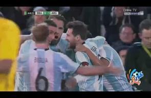 هدف مباراة الأرجنتين والبرازيل 1-0 ودياً
