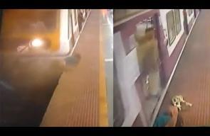 صدمها القطار ونجت من الموت