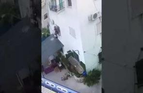 نجاة طفلة سقطت من الطابق 3 في أراضي 48