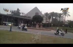 لحظة وصول ميسي لفندق مينا هاوس بمنطقة الأهرامات