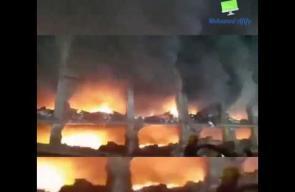 اندلاع حريق في مصنع للدرجات النارية بالقليوبية