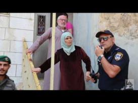 قوات الاحتلال تستخدم القوة لإخراج عائلة أبو رجب قرب الحرم الإبراهيمي