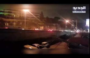 حادث سير مخيف على جسر ببيروت