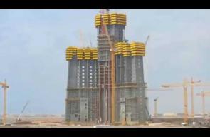 شاهد مراحل تطور بناء برج المملكة بجدة