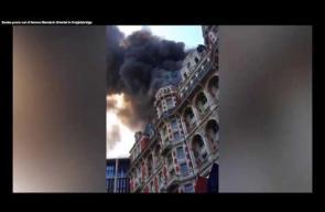 اندلاع حريق ضخم في فندق وسط لندن