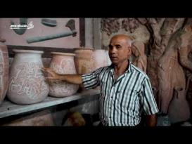 النحت على الفخار .. حكايا من التاريخ الفلسطيني القديم