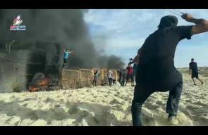 من مواجهات المسير البحري ال15 شمال قطاع غزة