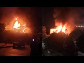 حريق ضخم يلتهم كنيسة مار جرجس في القاهرة