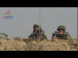 فيديو: قناصة الاحتلال يستهدفون الشباب الثائر شرق خانيونس