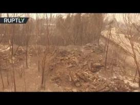 تصوير جوي لحجم الدمار الذي ألحقته حرائق البرتغال