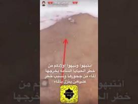 أفاعي مخيفة ظهرت في مجاري السيول بالسعودية