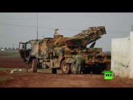 منظومات الصواريخ التركية تطلق النار نحو مواقع الجيش السوري
