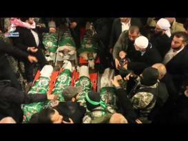 جماهير غفيرة تشيع شهداء القسام في غزة